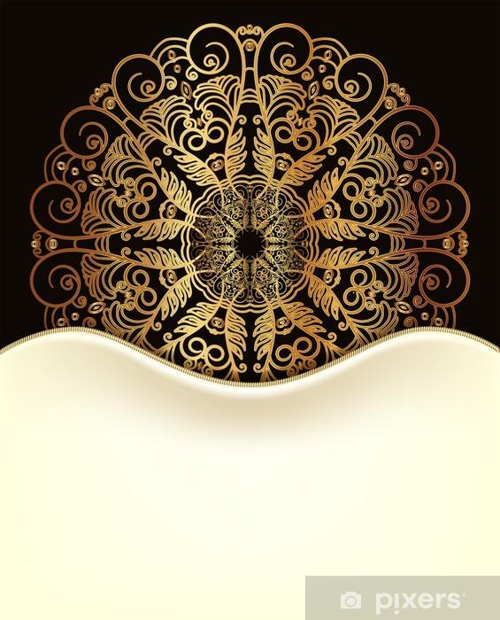 Perfetta per il restyling di qualsiasi mobile, pareti e vetrine. Carta Da Parati Bella Carta Invito Bianco Design Nero E Oro Pixers Viviamo Per Il Cambiamento