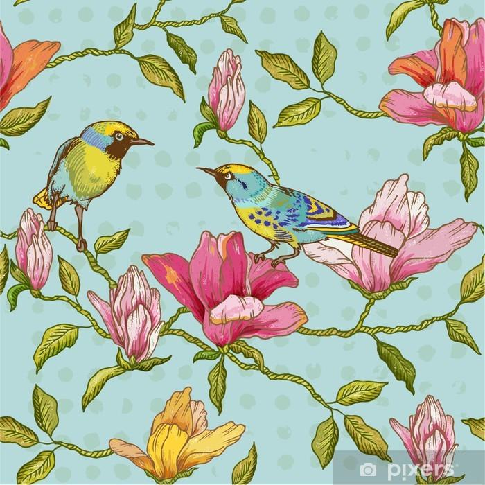 I fiori senz'altro sono tra i motivi più diffusi nella decorazione degli interni, perché portano agli interni freschezza, delicatezza e naturalezza. Carta Da Parati Vintage Seamless Background Fiori E Uccelli Pixers Viviamo Per Il Cambiamento