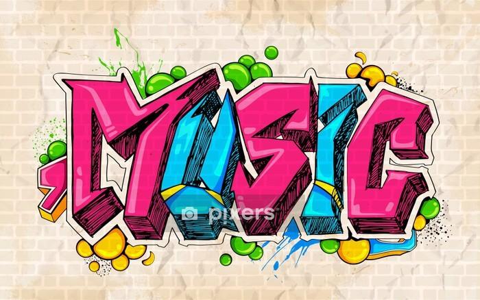 housse de couette graffiti style musique de fond pixers nous vivons pour changer
