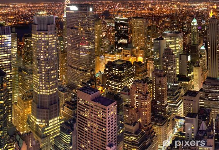 papier peint new york vue de nuit pixers nous vivons pour changer