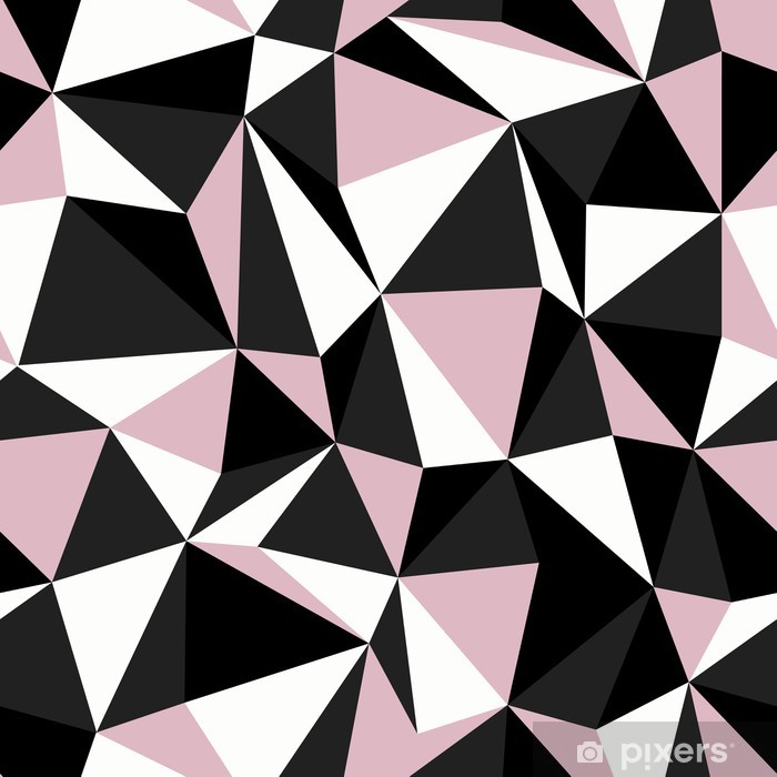 rideau transparent couleurs noir et rose triangle motif continu pixers nous vivons pour changer