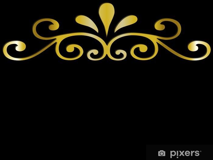 https pixers de fototapeten ornement dore sur fond noir 8403956