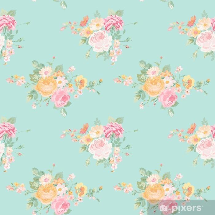 La carta da parati per la camera da letto shabby. Carta Da Parati Fiori Vintage Background Seamless Floral Shabby Chic Motivo Pixers Viviamo Per Il Cambiamento