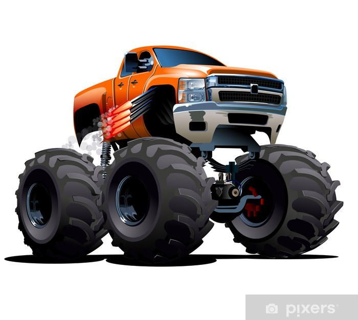 poster cartoon monster truck pixers wir leben um zu verandern