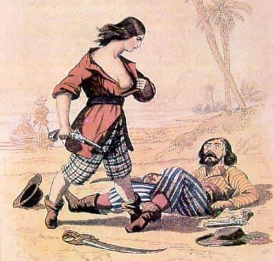 Cuenta la historia que Mary Read era excelente con las armas y que podía manejar perfectamente una pistola y una espada al mismo tiempo.