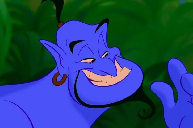 I like the one about the Genie from Aladdin working the long con.Aladdin's first wish was to be a prince. Did the Genie really make him a prince upon the first wish? Not only would the Genie have to give him all the nice clothes and everything, but he'd have create a kingdom with people, etc. and he'd have to make Aladdin's parent's the king and queen of the kingdom. He didn't do that. If he had, there would have been no issue at the end with Jasmine marrying Aladdin because he would have been royalty. Instead the Genie did enough to make the story unfold so that in the end the Sultan let Jasmine marry whoever she wanted. They get married and Aladdin becomes a prince. All part of the plan.