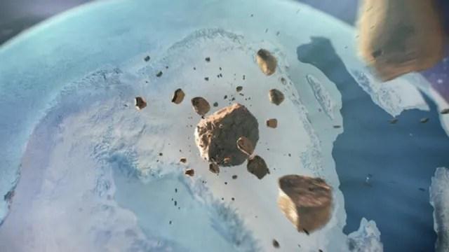 Un equipo internacional de investigadores  descubrió  bajo una espesa capa de hielo en el noroeste de Groenlandia un gigantesco cráter formado hace menos de 3 millones de años por el impacto de un meteorito de hierro.