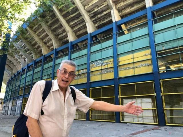 Eduardo es hincha de Rosario Central y no se pierde ni un solo partido