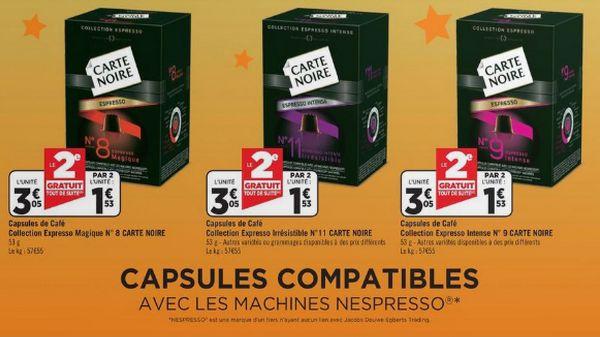 geant casino capsules carte noire