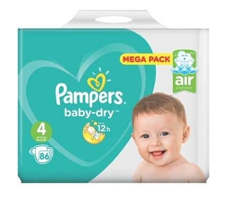 leclerc couches pampers baby dry 70