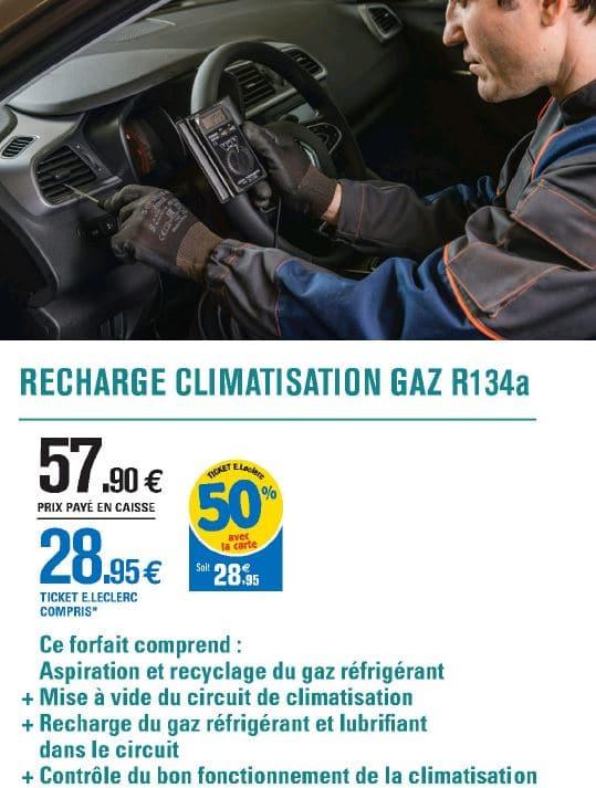 leclerc auto recharge climatisation