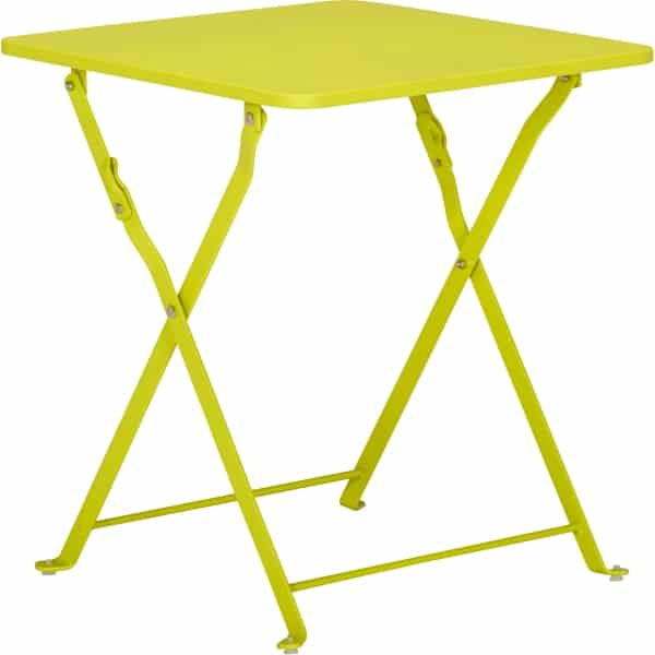 table basse de jardin ted pliante verte