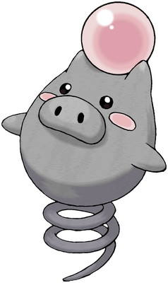 Spoink artwork by Ken Sugimori