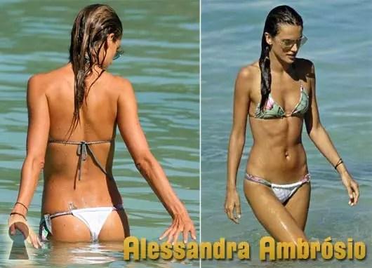 Alessandra Ambrósio de Biquini na Praia
