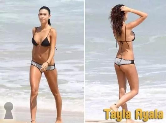 Tayla Ayala de Biquini na Praia