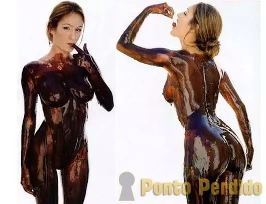 Fotos de Mulheres Gostosas cobertas de Chocolate