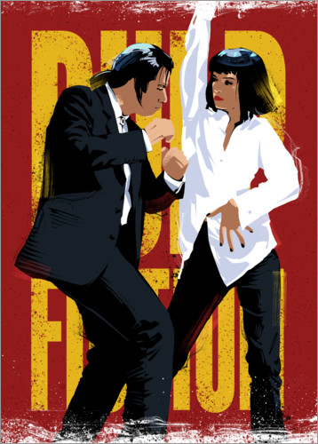 Pulp Fiction Dance Posters And Prints Posterlounge Co Uk