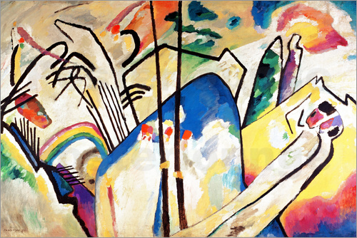 Wassily Kandinsky Composition IV   1911 Poster   Posterlounge