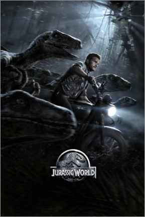 premium poster jurassic world raptor squad