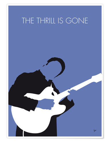 premium poster b b king the thrill is gone