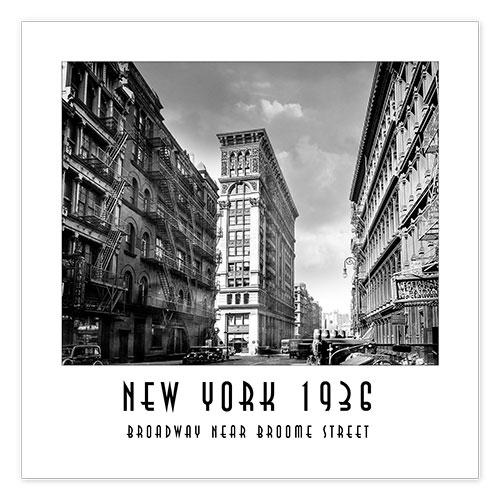 premium poster historisches new york broadway und broome street