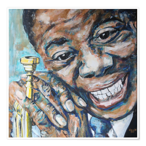 premium poster what a wonderful world louis armstrong