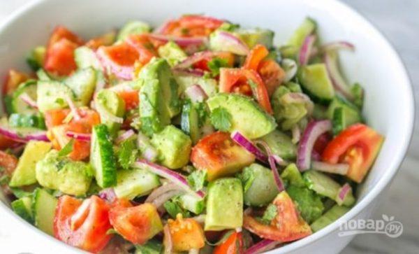 Легкий салат с авокадо - пошаговый рецепт с фото на Повар.ру
