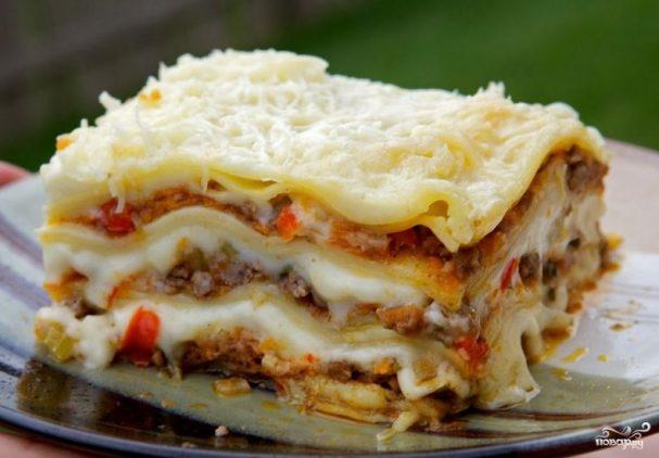 lazanya s myasom 57085 - Lasagna with meat