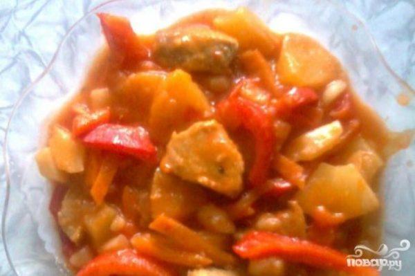 "Свинина с ананасом ""Южанка"" - рецепт с фото на Повар.ру"