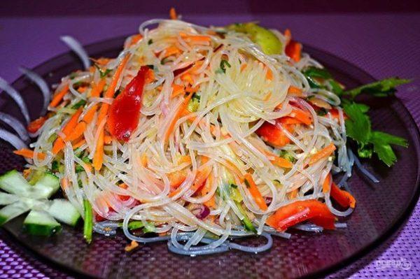 Фунчоза с овощами - пошаговый рецепт с фото на Повар.ру