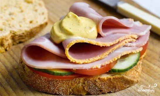 Бутерброд с ветчиной - пошаговый рецепт с фото на Повар.ру