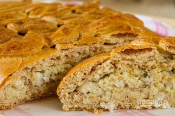 Простой рыбный пирог - пошаговый рецепт с фото на Повар.ру