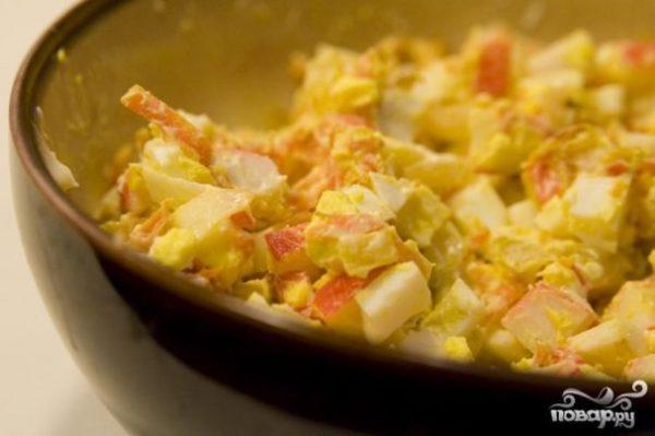 Салат из мяса краба - пошаговый рецепт с фото на Повар.ру