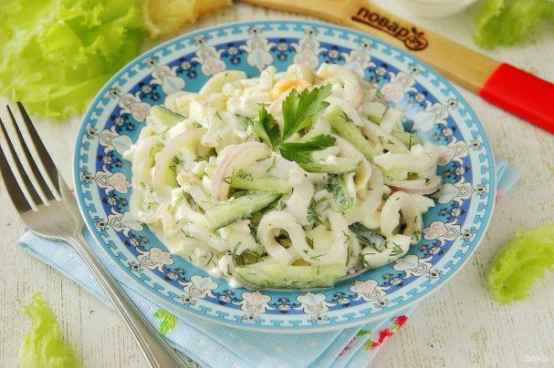 ПП салат с кальмаром