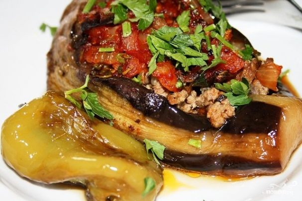 farshirovannie baklajani po armyanski 43577 - Stuffed eggplant in Armenian
