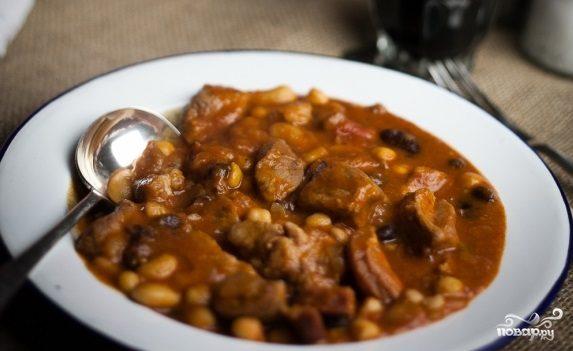 Свинина с фасолью и помидорами - пошаговый рецепт с фото ...