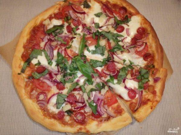 """Пицца """"Белорусская"""" - пошаговый рецепт с фото на Повар.ру"""