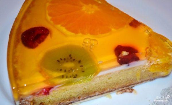 Бисквитный торт с желе и фруктами - рецепт с фото на Повар.ру