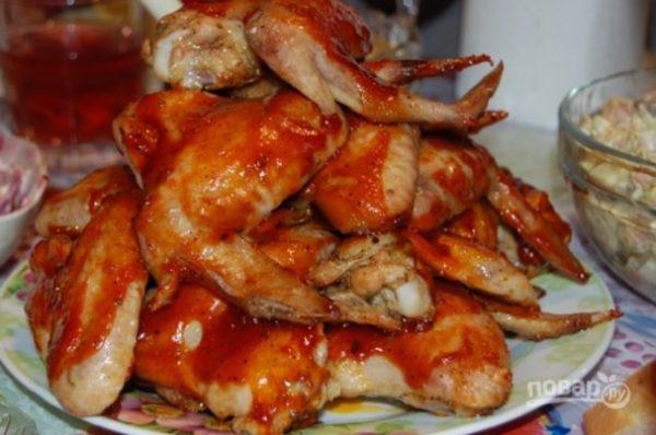 Куриные крылья барбекю - пошаговый рецепт с фото на Повар.ру