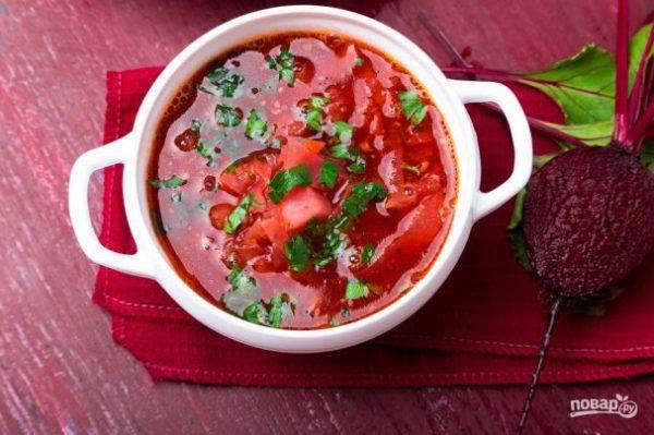 Борщ с фасолью без мяса - пошаговый рецепт с фото на Повар.ру