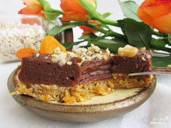 Постный торт без выпечки из печенья пошаговый рецепт с