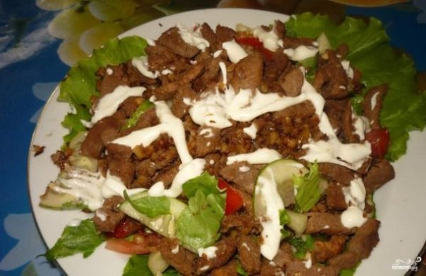 Салат из говядины с помидорами - пошаговый рецепт с фото ...