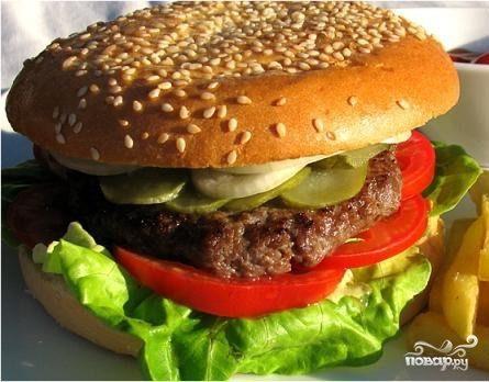 Котлета для гамбургера - пошаговый рецепт с фото на Повар.ру