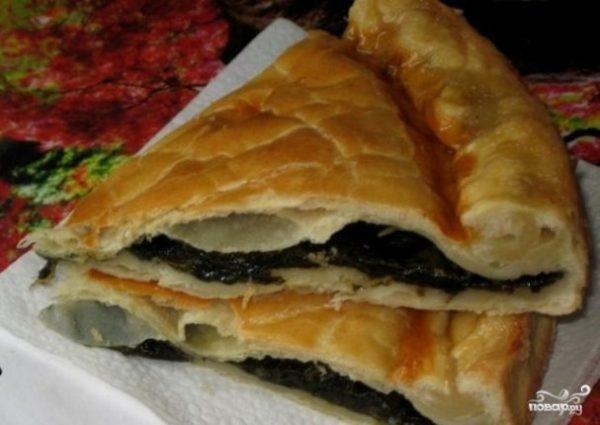 Пирог со щавелем из слоеного теста пошаговый рецепт с
