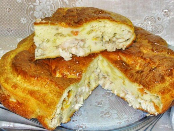 Пирог с рыбой - пошаговый рецепт с фото на Повар.ру
