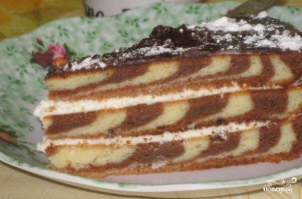 """Торт """"Зебра"""" (классический рецепт) - пошаговый рецепт с ..."""