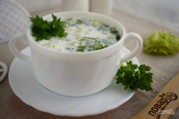 holodnii sup iz kefira s ogurcami i zeleniu 369828 - Cold soup made of yogurt with cucumbers and greens