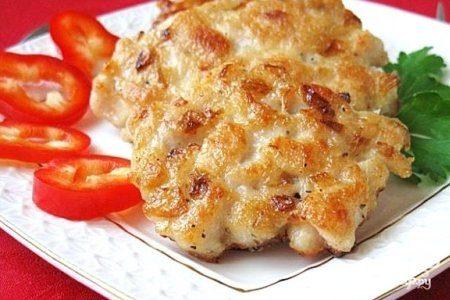 Рубленые куриные котлеты с сыром