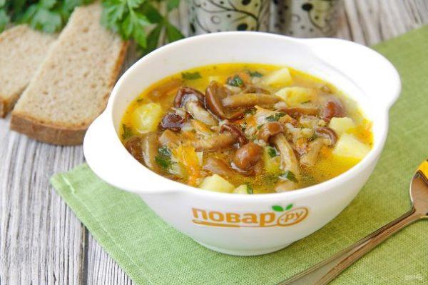 Суп с опятами - пошаговый рецепт с фото на Повар.ру