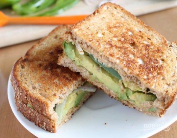 Бутерброд с авокадо - пошаговый рецепт с фото на Повар.ру